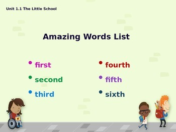 Reading Street Amazing Words - Grade K (240 Amazing Words from Unit 1 - Unit 5)