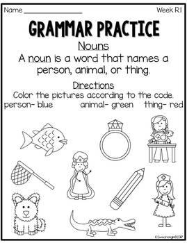 Reading Street Grammar Practice First Grade