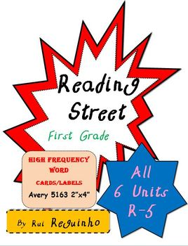 Reading Street - HFW for All Units R-5 - Avery 5163 labels without borders
