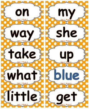 Reading Street - HFW for Unit 1 - Avery 5163 labels with borders