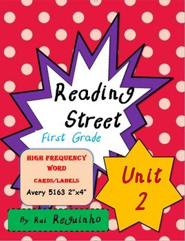 Reading Street - HFW for Unit 2 - Avery 5163 labels with borders