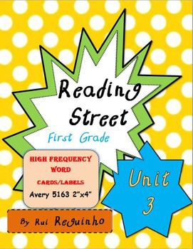 Reading Street - HFW for Unit 3 - Avery 5163 labels with borders