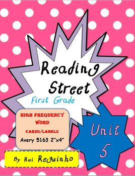 Reading Street - HFW for Unit 5 - Avery 5163 labels with borders