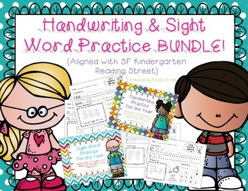 Reading Street Handwriting and Sight Word Practice BUNDLE!