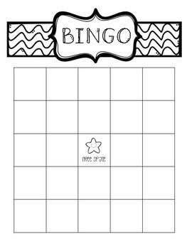 1st Grade High-Frequency Word Bingo