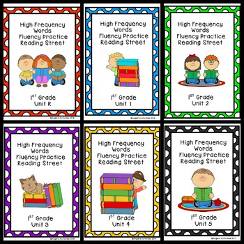 Reading Street High Frequency Word Practice Bundle (1st Grade)