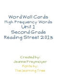 Reading Street High Frequency Word Wall Unit 1