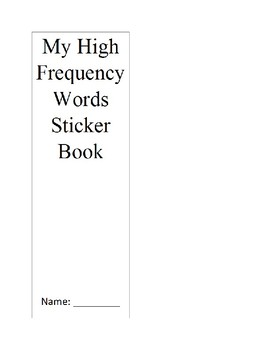 Reading Street High Frequency Words Sticker Book Unit 2