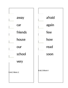 Reading Street High Frequency Words Sticker Book Unit 3