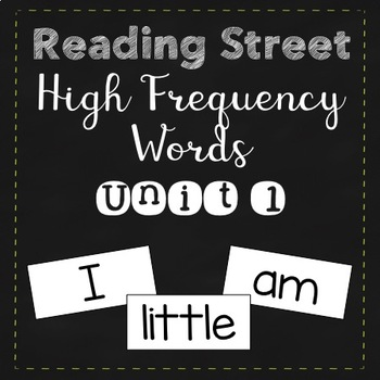 Reading Street High Frequency Words Unit 1