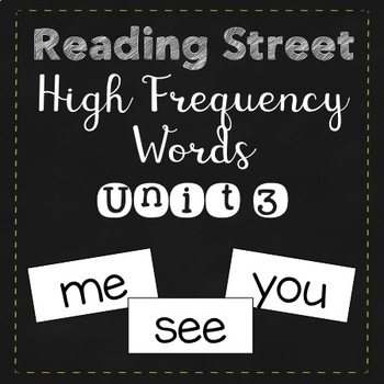 Reading Street High Frequency Words Unit 3