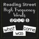 Reading Street High Frequency Words Unit 5