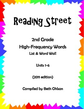 Reading Street High-Frequency Words Units 1-6 (2011)
