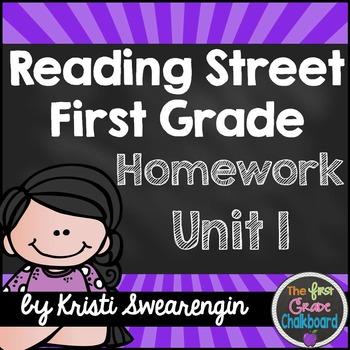 Reading Street Homework Packet: First Grade Unit 1
