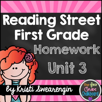 Reading Street Homework Packet: First Grade Unit 3