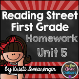 Reading Street Homework Packet: First Grade Unit 5