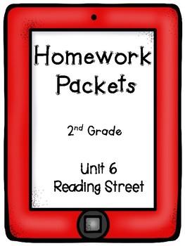 Reading Street, Homework Packets, 2nd Grade, Unit 6
