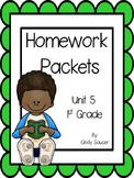 Reading Street, Homework Packets, Unit 5, 1st Grade
