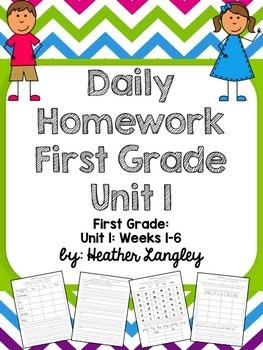 Homework Unit 1 First Grade
