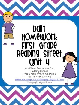 Homework Unit 4 First Grade