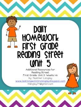 Homework Unit 5 First Grade