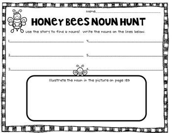 Reading Street Honey Bees Noun Hunt