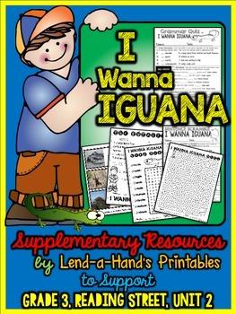Reading Street I Wanna Iguana Teacher Pack by Ms. Lendahand