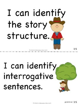 """Reading Street """"I can"""" statements for 1st grade - Western"""