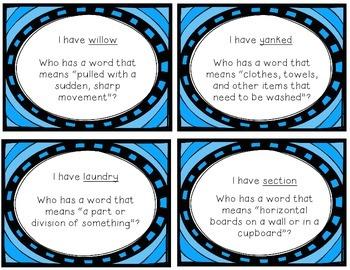 "Reading Street ""I have, who has"" vocab. cards - Grade 3, Unit 1"