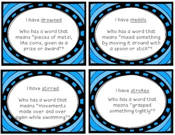 "Reading Street ""I have, who has"" vocab. cards - Grade 3, Unit 4"