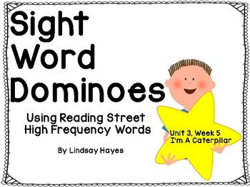 Reading Street: I'm a Caterpillar, Sight Word Dominoes