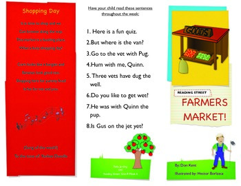 Reading Street- Informational trifold for Farmers Market!