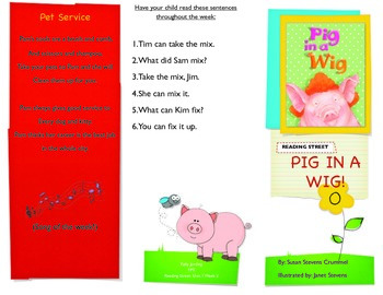 Reading Street- Informational trifold for Pig in a Wig!