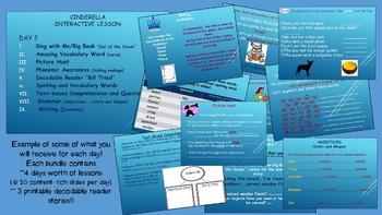Reading Street Interactive Lessons (4 days) - Cinderella - CUSTOMIZABLE