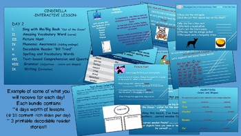 Reading Street Interactive Lessons (4 days) - Cinderella - CUSTOMIZABLE