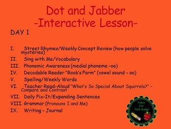 Reading Street Interactive Lessons (4 days) - Dot and Jabber - CUSTOMIZABLE