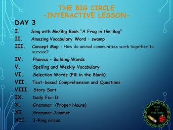 Reading Street Interactive Lessons (4 days) - The Big Circle