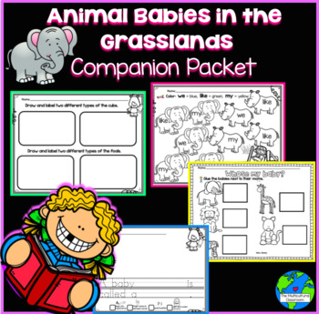 Animal Babies in the Grassland Companion Packet