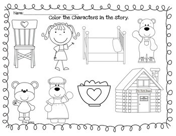 RS SideKick K Unit 4 Goldilocks & the 3 Bears {Compatible with Reading Street}