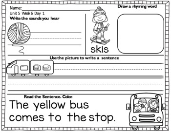 RS SideKick K Unit 5 the Way we go to School {Compatible with Reading Street}