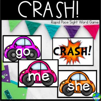 Crash! Kindergarten sight words rapid pace game