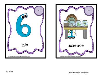 Reading Street KG Articulation Cards:  /s/ phoneme