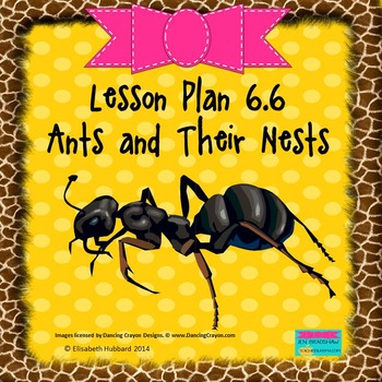 Ants and Their Nests:  Editable Lesson Plan