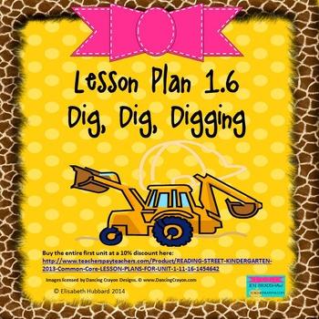 Dig, Dig, Digging:  Editable Lesson Plan