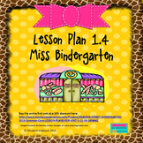 Miss Bindergarten:  Editable Lesson Plan