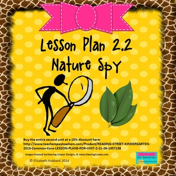Nature Spy:  Editable Lesson Plan