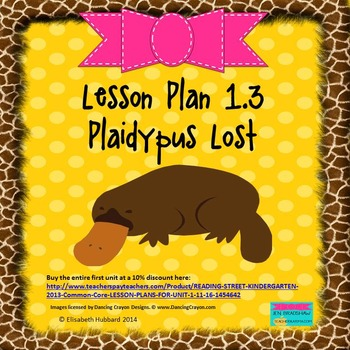 Plaidypus Lost:  Editable Lesson Plan