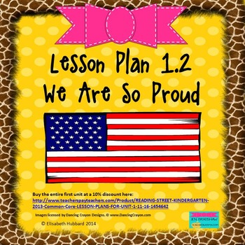 We Are So Proud:  Editable Lesson Plan