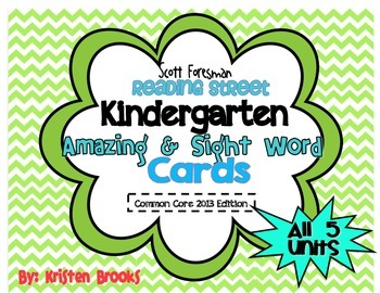 Reading Street Kindergarten Amazing Words and Sight Word C