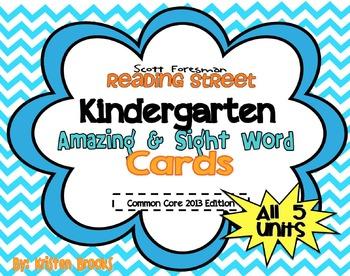 Reading Street Kindergarten Amazing Words and Sight Words (BLUE)